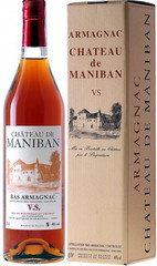 Арманьяк Castarede Chateau de Maniban VS Bas Armagnac AOC gift box, 0,7 л.