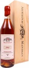 Арманьяк Castarede Maniban Armagnac AOC 1981 wooden box, 0.7 л.