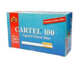 Гильзы для самокруток Cartel Carbon 100 шт