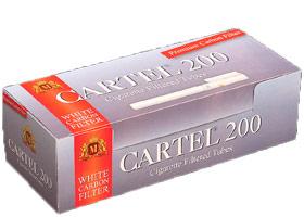 Гильзы для самокруток Cartel Carbon White 200 шт