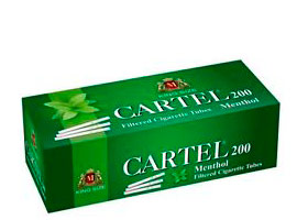 Гильзы для самокруток Cartel Menthol 200 шт