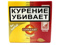 Сигариллы Candlelight Filter Assorty Vanilla+Cherry 25+25 (шт.)