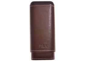 Футляр P&A на 3 сигары T1067-Brown