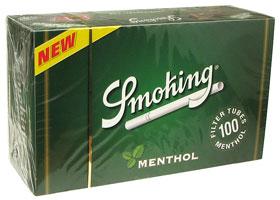 Гильзы для самокруток Smoking Menthol 100 шт