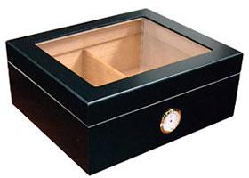 Хьюмидор Aficionado Chalet Glasstop Black на 50 игар