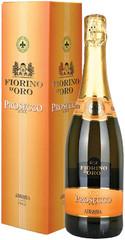 Игристое вино Abbazia Fiorino d'Oro Prosecco Spumante DOC gift box , 0,75 л.