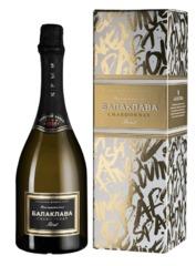 Игристое вино Balaklava Chardonnay Brut gift box, 0,75 л.