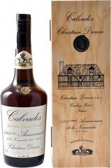 Кальвадос Christian Drouin Coeur de Lion Calvados 1100-eme Anniversaire de la Normandie, wooden box, 0.7 л
