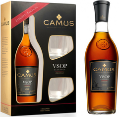 Коньяк Camus VSOP, gift box with 2 glasses
