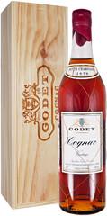 Коньяк Godet Vintage Petite Champagne AOC 1970, wooden box, 0.7 л