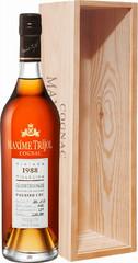 Коньяк Maxime Trijol Grande Champagne Premier Cru AOC, 1988, wooden box, 0.7 л