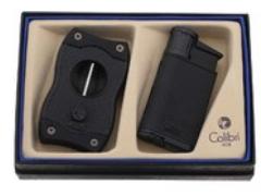 Подарочный набор зажигалка и каттер Evo черный GS520C01