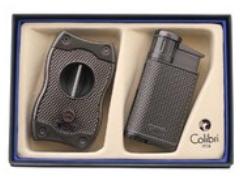 Подарочный набор зажигалка и каттер Evo оружейная сталь GS520C04