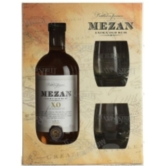 Ром Mezan Jamaica XO , with 2 glasses , 0,7 л.