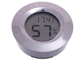 Термо-гигрометр Цифровой Круглый Серебро 596-503