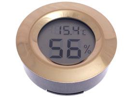Термо-гигрометр Цифровой Круглый Золото 596-504