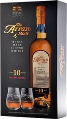 Виски Arran 10 years Gift Box With 2 Glasses, 0.7 л