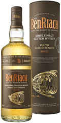 Виски Benriach Peated Cask Strength Batch 1 in tube, 0.7 л.