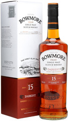 Виски Bowmore Darkest 15 years old, gift box, 0.7 л