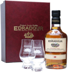 Виски Edradour 10 Years Old Gift Box With 2 Glasses , 0,7