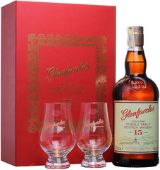 Виски Glenfarclas 15 years Gift Box With 2 Glasses , 0,7