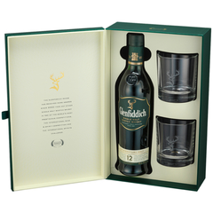 Виски Glenfiddich 12 years old, gift box with 2 glasses
