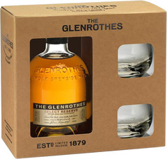 Виски Glenrothes Single Speyside Malt Select Reserve, with 2 glasses, 0.7 л