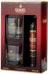 Виски Grant's Family Reserve, gift box with 2 glasses