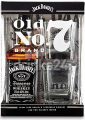 Виски Jack Daniels, in box with 2 glasses, 0.7 л