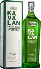 Виски Kavalan Concertmaster Port Cask Finish Gift Box ,0.7 л