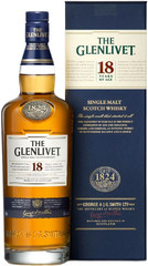 Виски The Glenlivet 18 years, with box, 0.7 л