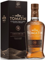 Виски Tomatin 18 Years Old Gift Box, 0.7 л