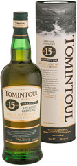 Виски Tomintoul 15 Years Old with a Peaty Tang, gift tube, 0.7 л