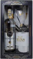 Водка Beluga Noble, gift box with caviar, 0,7 л