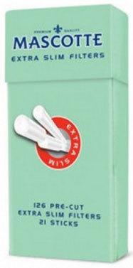Фильтры сигаретные Mascotte Extra Slim Filters Sticks 5,3 мм вид 1
