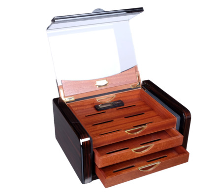 Хьюмидор-шкаф Gentili на 40 сигар CUBANA Макассар вид 2