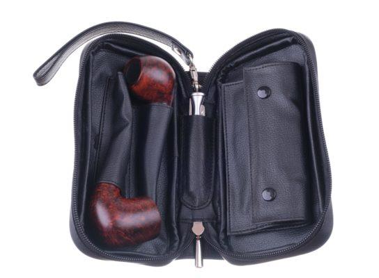 Сумка P&A для 2 трубок и табака 414-Black вид 2