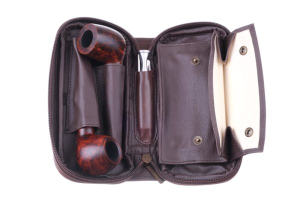 Сумка P&A для 2 трубок и табака 415-Brown вид 2
