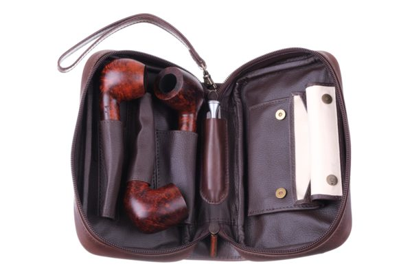 Сумка P&A для 3 трубок и табака 413-Brown вид 2