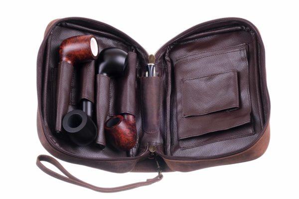 Сумка P&A для 4 трубок и табака 418-Buffalo вид 2