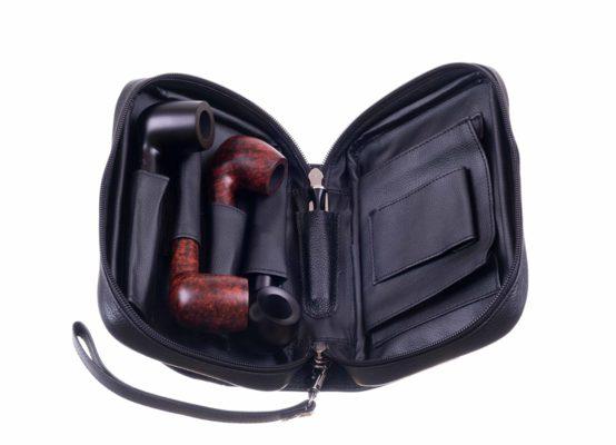 Сумка P&A для 4 трубок и табака 418-Black вид 2