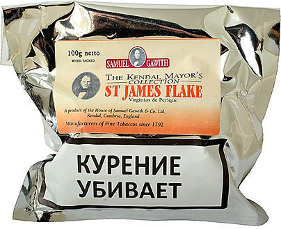 Трубочный табак Samuel Gawith St. James Flake (100 гр.) вид 1