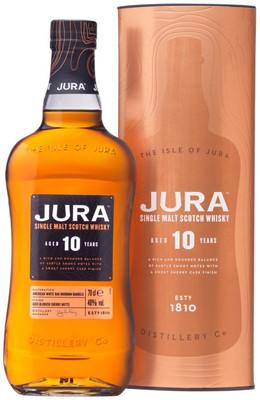 Виски Jura Aged 10 Years n gift box, 0.7л вид 1