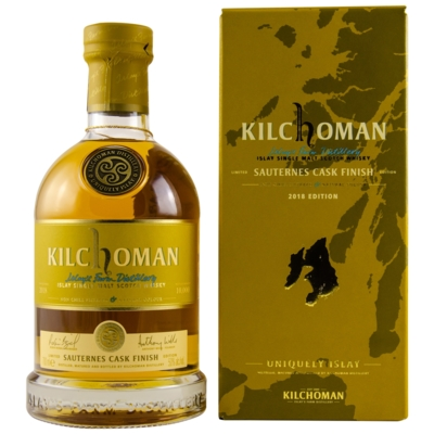 Виски Kilchoman Sauternes Cask Finish Gift Box, 0.7л вид 1