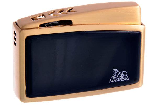 Зажигалка Lubinski Модена Золотая с Чёрным WC121-3 вид 1